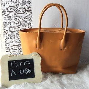 Furla Calf Leather Shoulder Bag in Orange